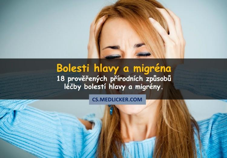 Jak se zbavit bolesti hlavy s pomocí přírodních léků?