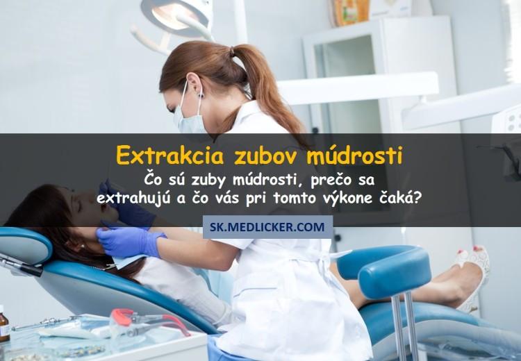 Extrakcia zubov múdrosti