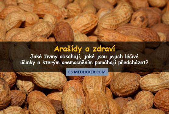 Co obsahují arašídy a jaké jsou jejich účinky na zdraví?