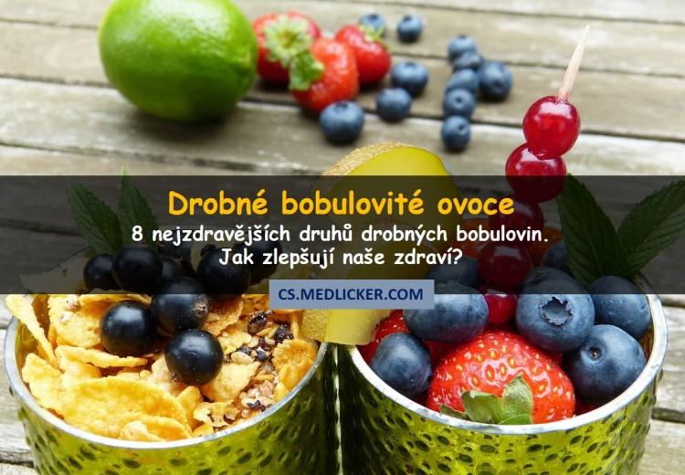8 nejzdravějších druhů drobného bobulovitého ovoce