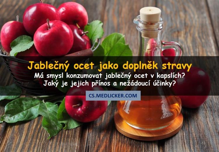 Jablečný ocet v kapslích či tabletách - má smysl tento doplněk stravy užívat?