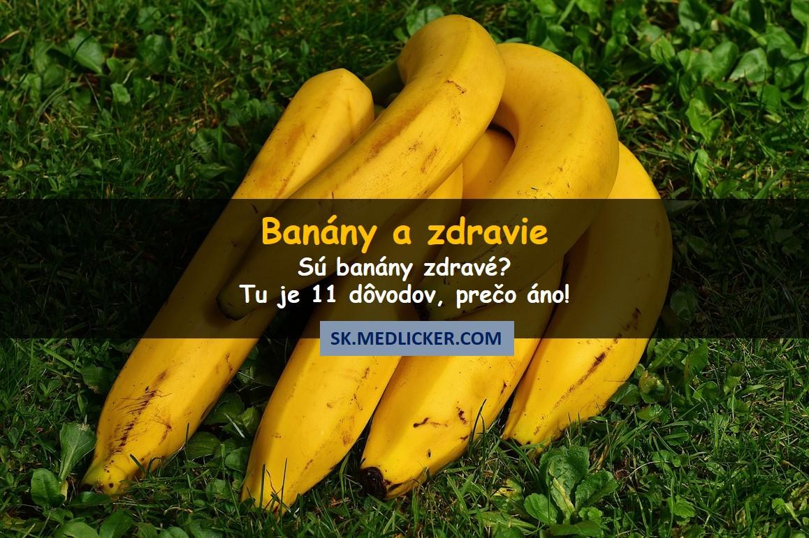 11 dôvodov, prečo sú banány zdravé