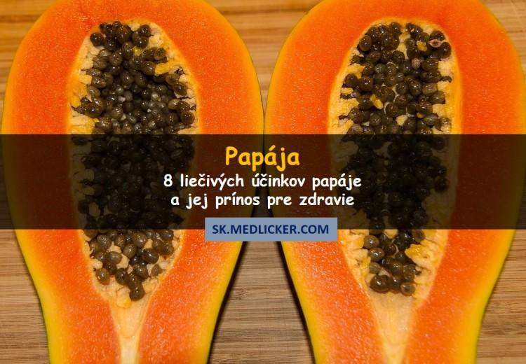 8 liečivých účinkov papáje a jej prínos pre zdravie