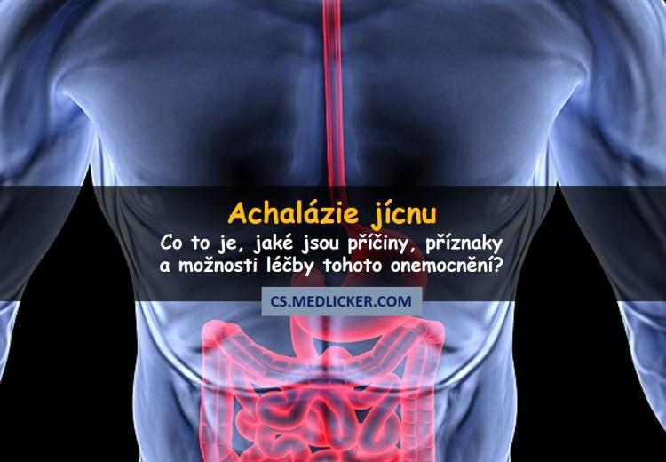 Co je achalázie jícnu, jak se projevuje a léčí?