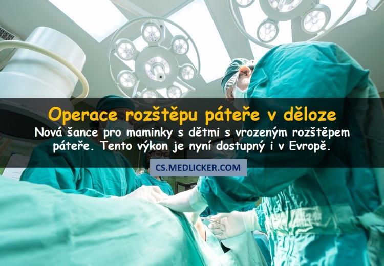 Chirurgové provedli operaci páteře u plodu v děloze