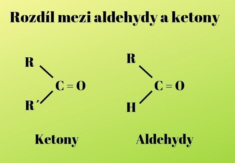 Aldehydy a ketony rozdíl