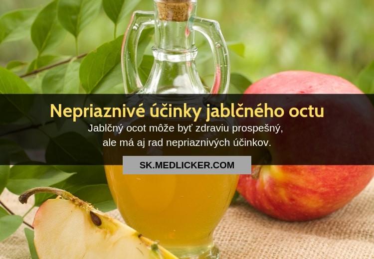 7 nepriaznivých účinkov jablčného octu