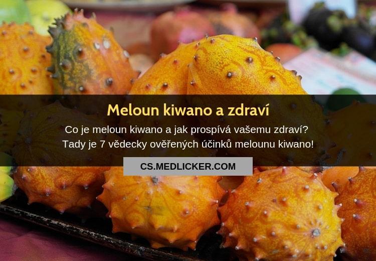 Co je kiwano, jaké jsou jeho léčivé účinky a jak tento africký meloun jíst?
