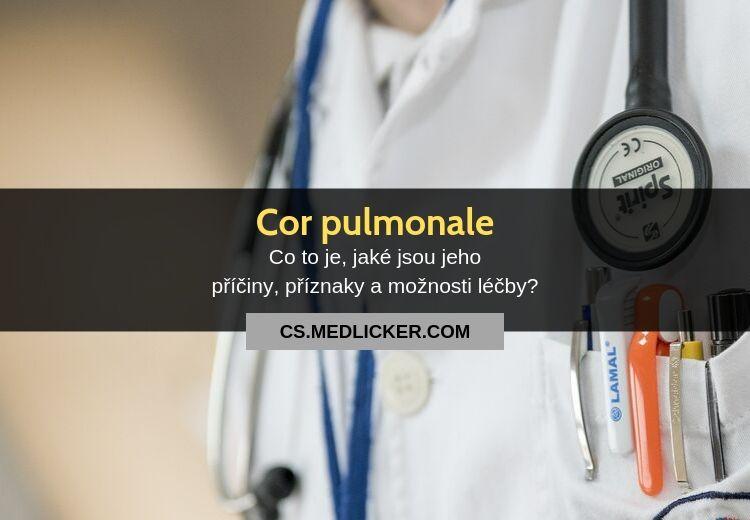 Cor pulmonale: vše co potřebujete vědět