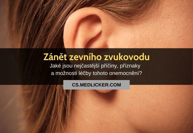 Zánět zevního zvukovodu (otitis externa): vše co potřebujete vědět