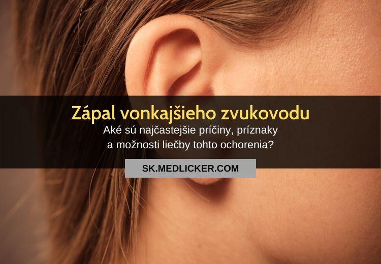 Zápal vonkajšieho zvukovodu (otitis externa): všetko čo potrebujete vedieť