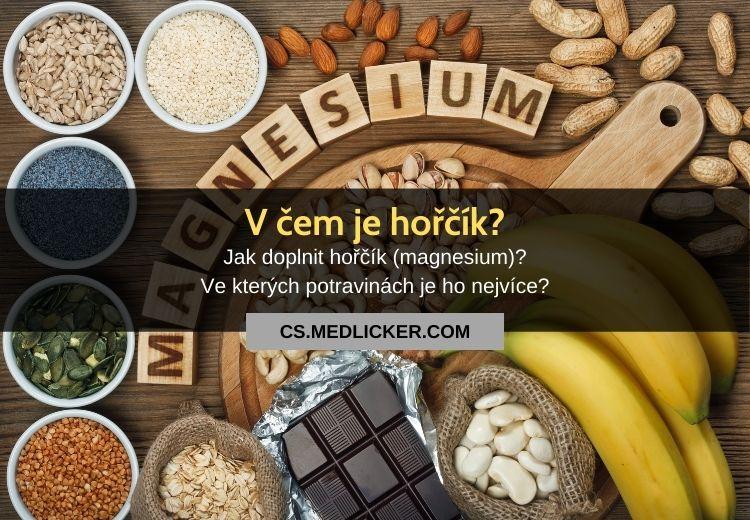 Potraviny bohaté na hořčík (magnesium)