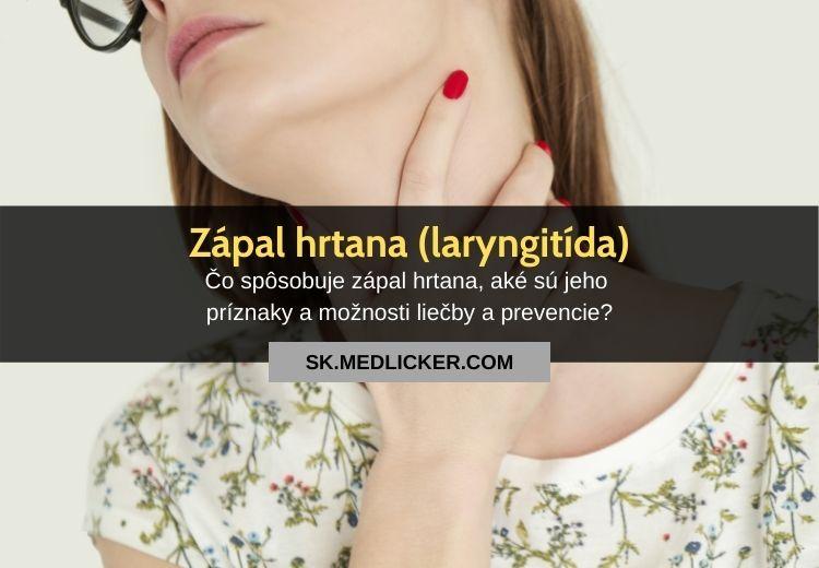 Zápal hrtana (laryngitída): všetko čo potrebujete vedieť
