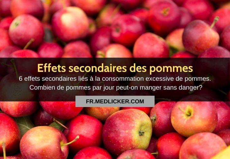 6 effets indésirables des pommes