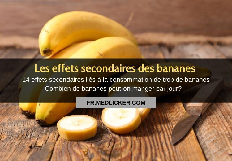14 effets secondaires liés à la consommation de trop de bananes