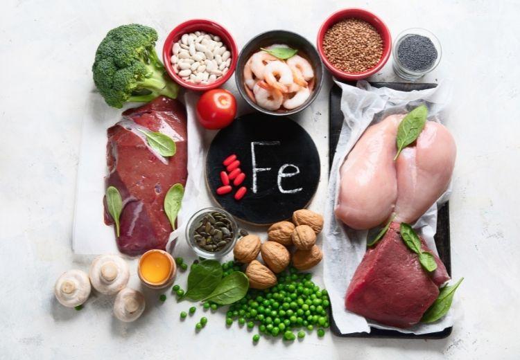 Les ingrédients d'origine végétale contiennent des quantités variables de fer