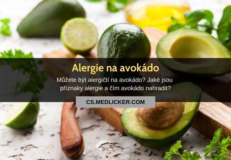 Alergie na avokádo