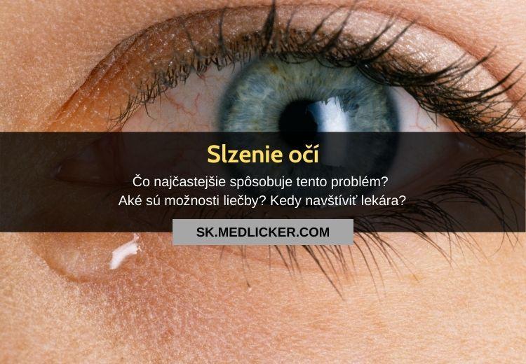 Čo spôsobuje slzenie očí a ako ho zastaviť?