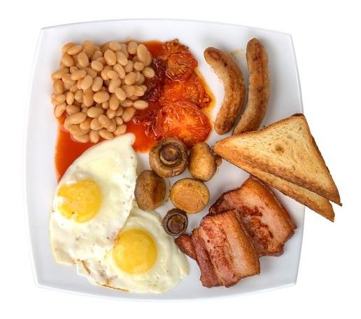 Nezdravá anglická snídaně