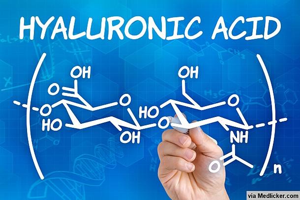 Vzorec kyseliny hyaluronové