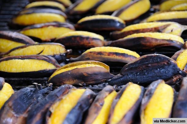 Grilované banány ve slupce