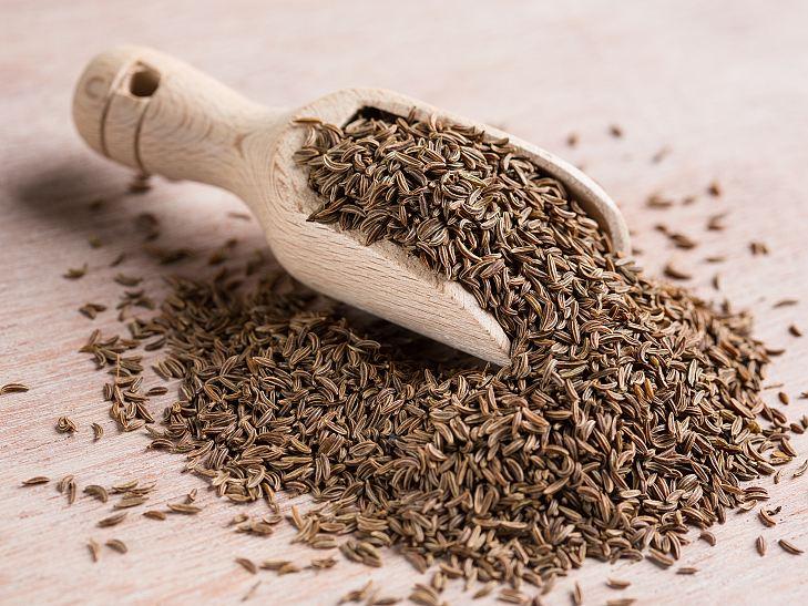 Un tas de graines de cumin