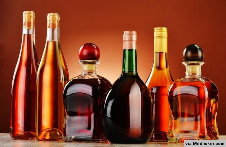 Les bouteilles d'alcool
