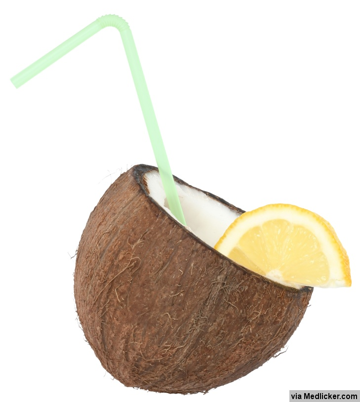 Coconut and lemon drink