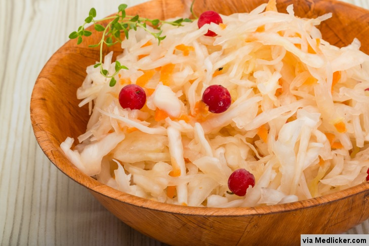 Cranberry, cabbage and carrot salad