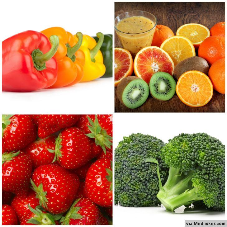 Ovoce a zelenina s vysokým obsahem vitamínu C