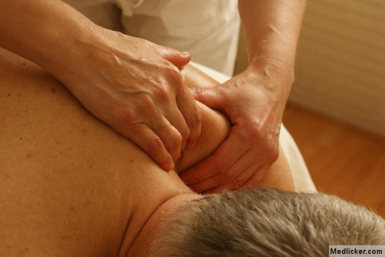 Spasm massage shoulder