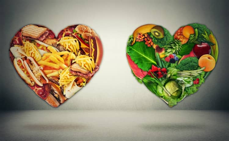 Zdravá a nezdravá strava pro srdce a cholesterol