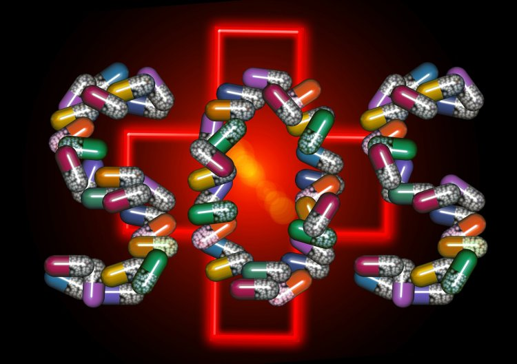 Nápis SOS z antibiotik