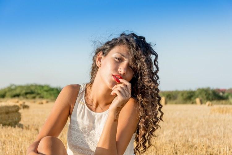 Girl with beautiful hair