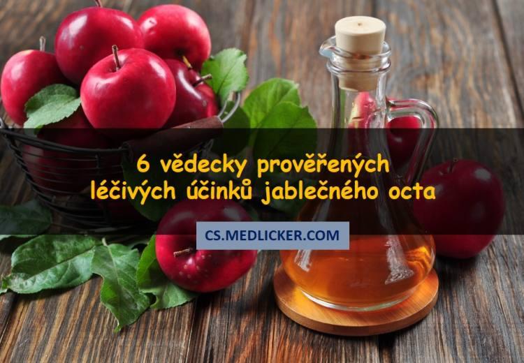 6 léčivých účinků jablečného octa