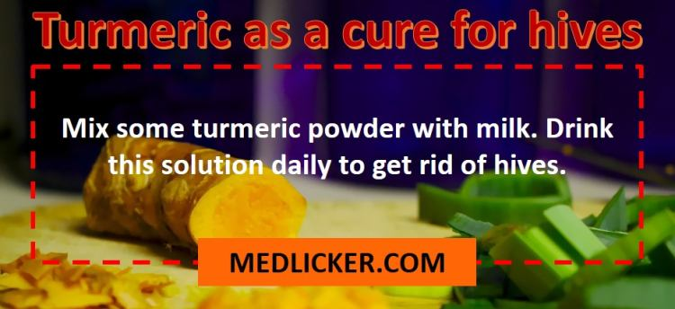 How to use turmeric for hives?