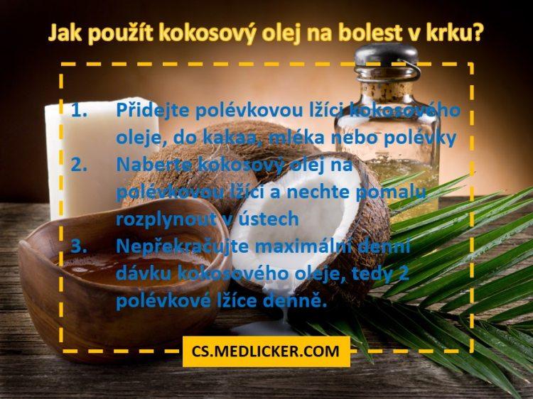 Kokosový olej na bolest v krku