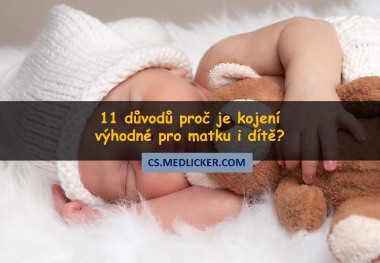 11 výhod kojení pro matku a dítě