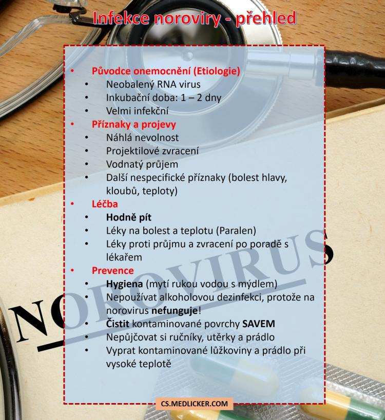 Infekce norovirem: příčiny, příznaky, léčba a prevence