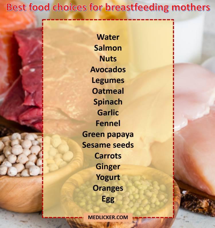 best foods for nursing mothers