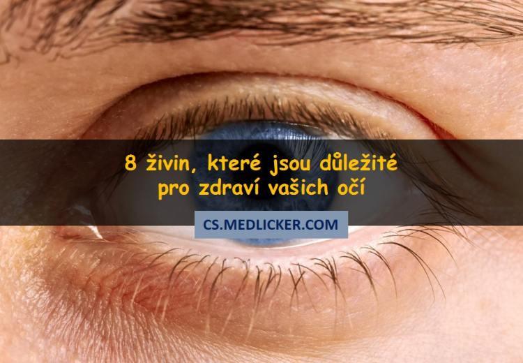 8 důležitých živin pro zdravé oči